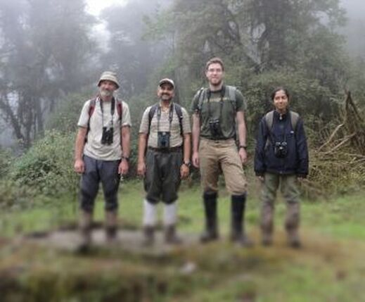 Research team in Neora Valley National Park, West Bengal, India